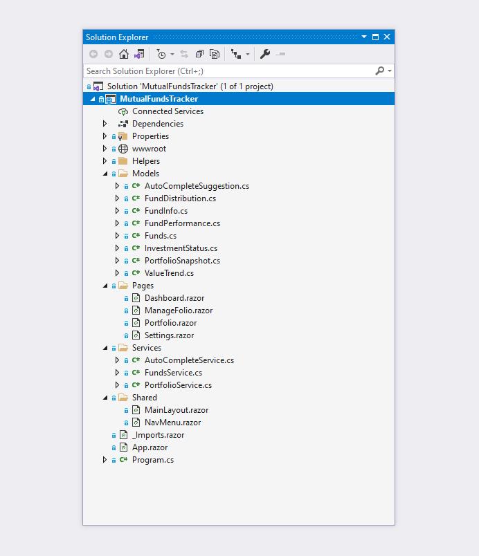 Visual Studio Project Structure