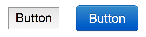 regular versus bootstrap styled button
