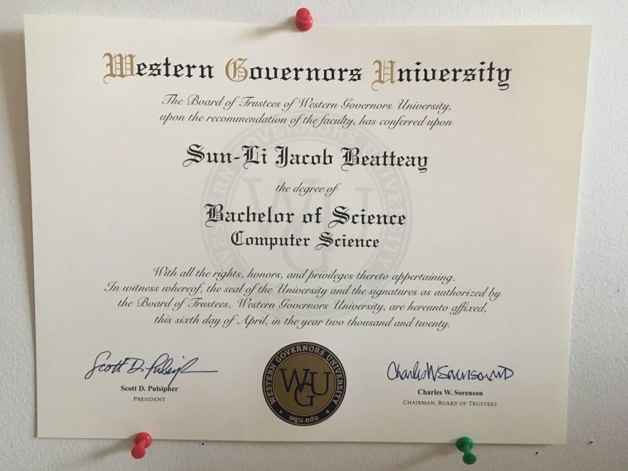 Yep, that's my degree