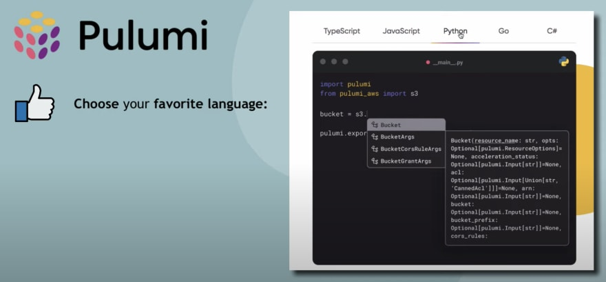Pulumi - choose favorite language