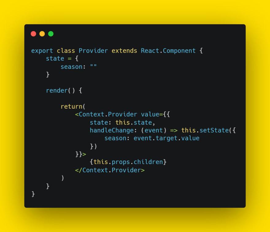 Add handleChange function