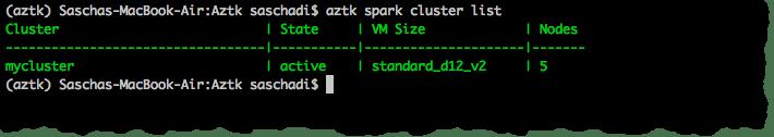 List Apache Spark Clusters