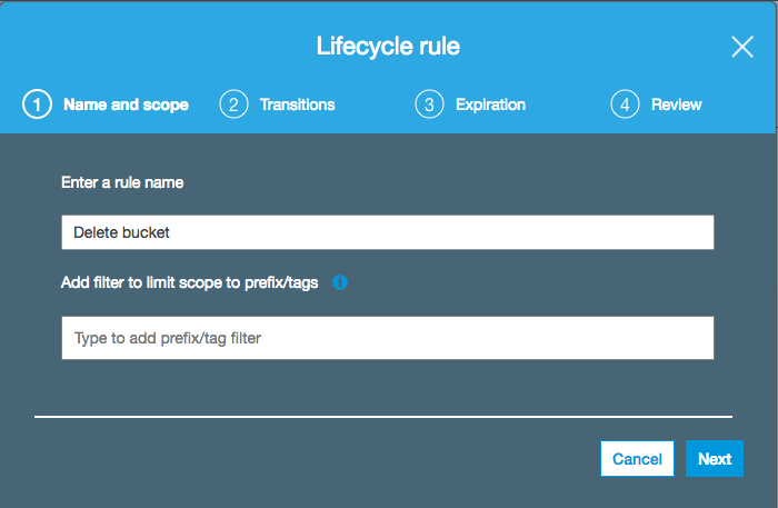 Name lifecycle rule