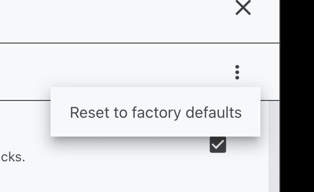 Reset modes