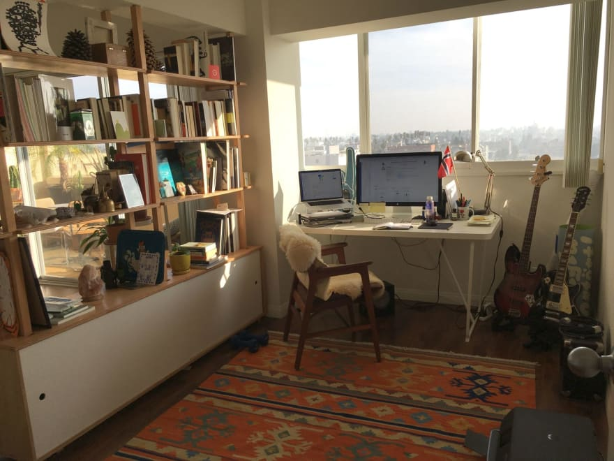 A pleasant set-up for working from home.