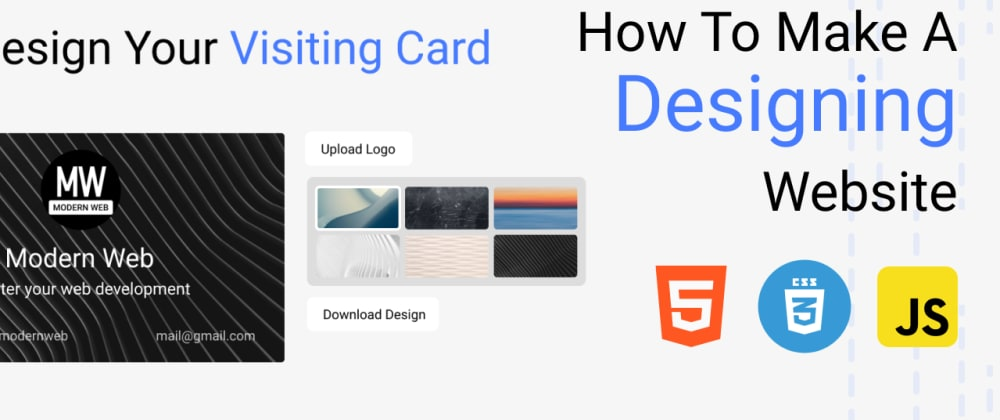 Cover Image for Visiting card designer - Make designing website with Html, css and js.