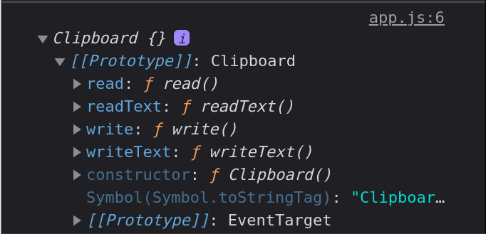 Preview of clipboard