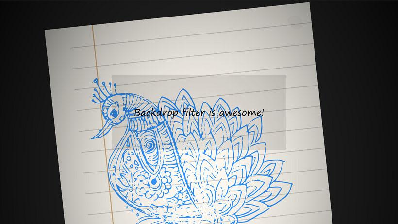 Backdrop filter in Firefox