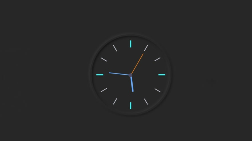 Activate the analog clock with JavaScript code