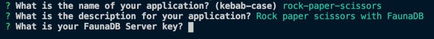 CLI enter key