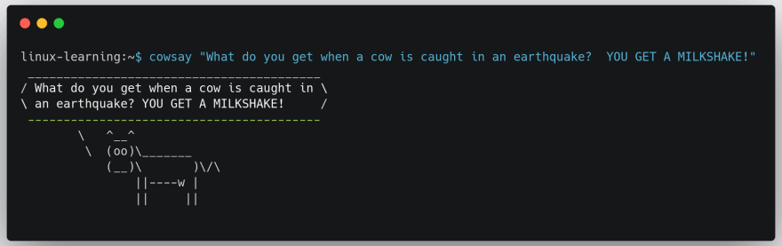 cowsay-example