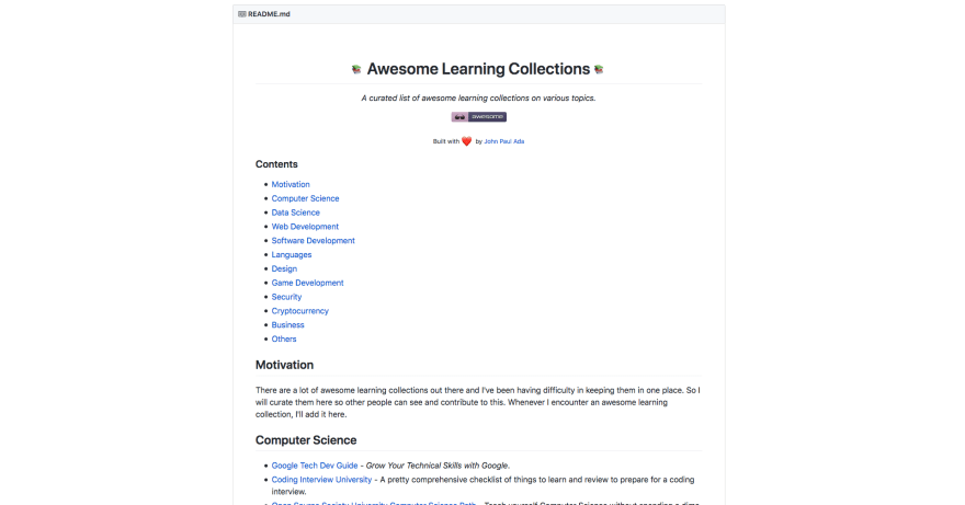 Awesome Learning Resources
