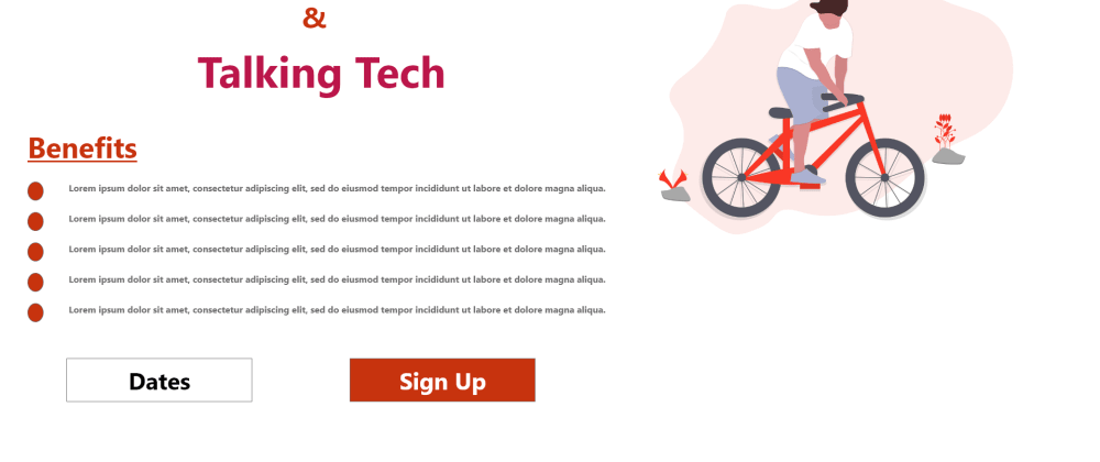 Cover image for Cycling and Talking Tech, How I built this landing page