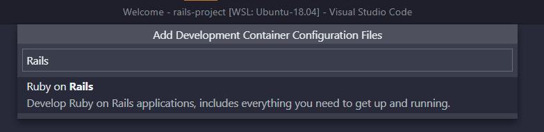 Rails dev configuration