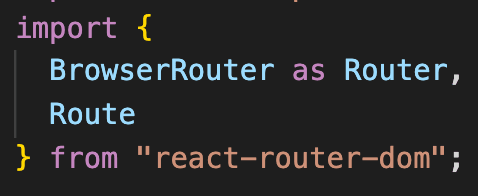 importing BrowserRouter