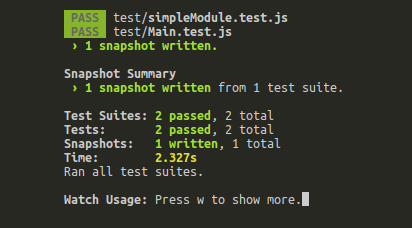 Snapshots successfully taken