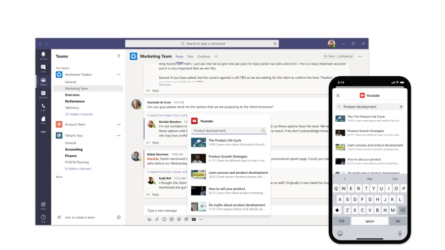Custom messaging extension integrated in Microsoft Teams