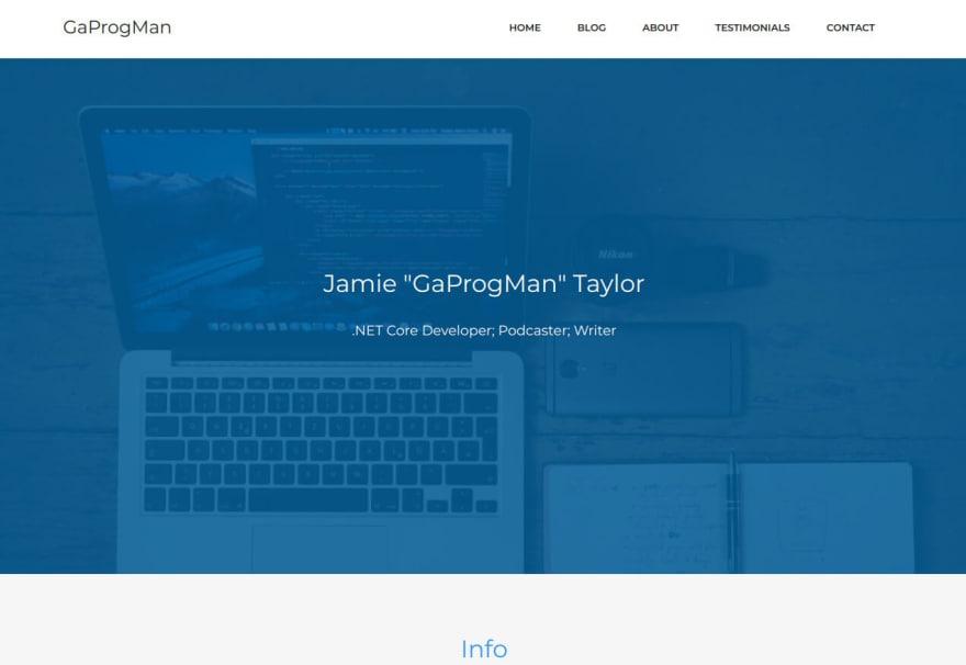 My current site design