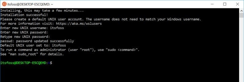 Running bash on Windows is now possible