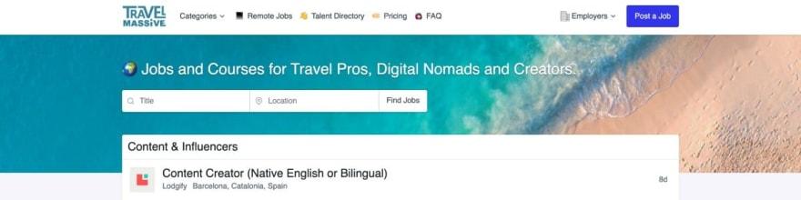 Travel Massive website