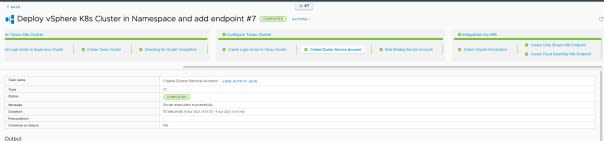 vRA Deploy Tanzu Guest Cluster - CodeStream - Pipeline Execution - Completed