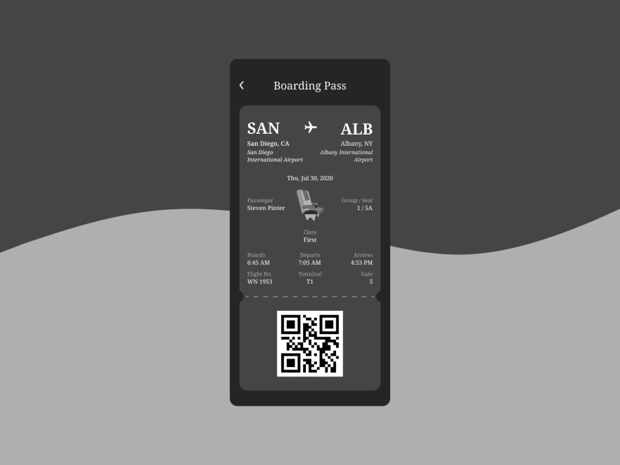 Final high fidelity design of boarding pass concept