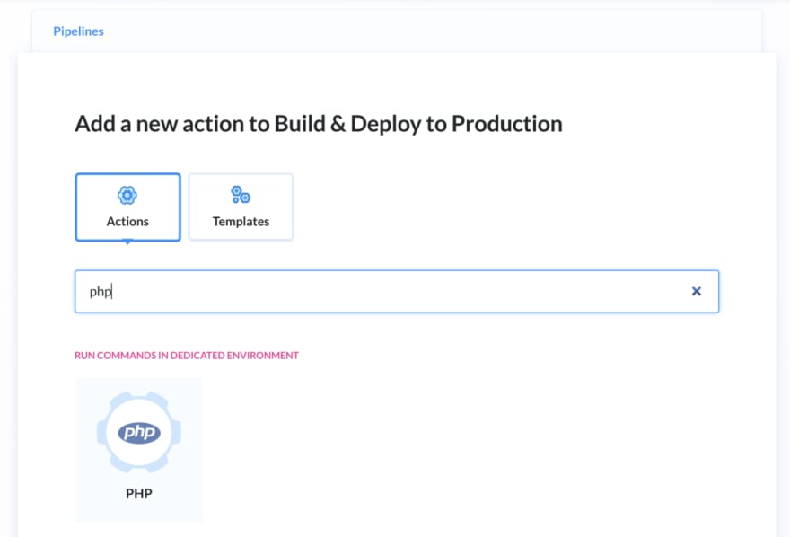Atomic deployment buddy step php build