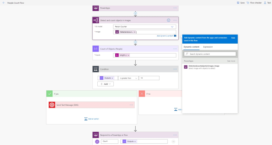 Power Apps to AI Builder Flow