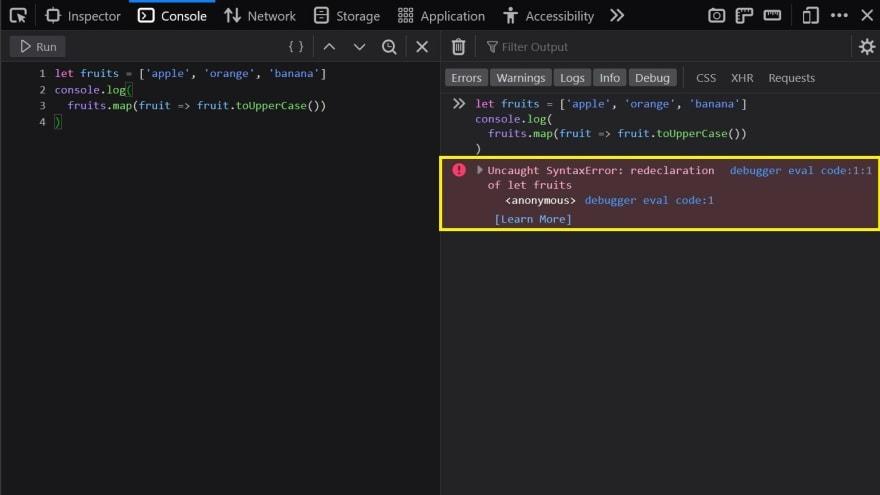 Firefox Redeclaration Error