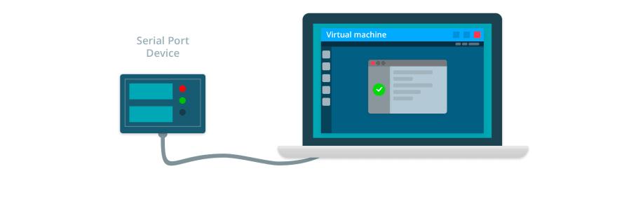 Virtual machine serial port
