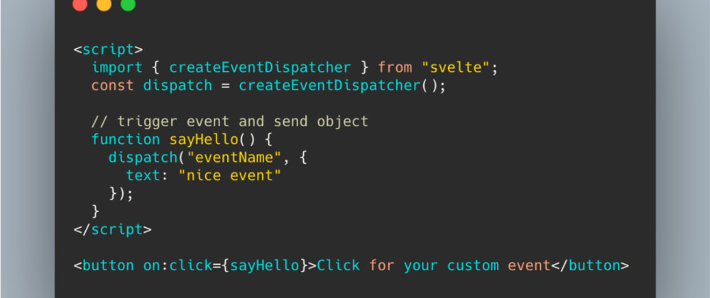 Cover image for How to use events in Svelte