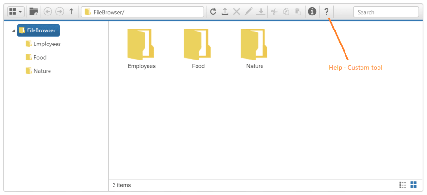 File Explorer with Custom Tool