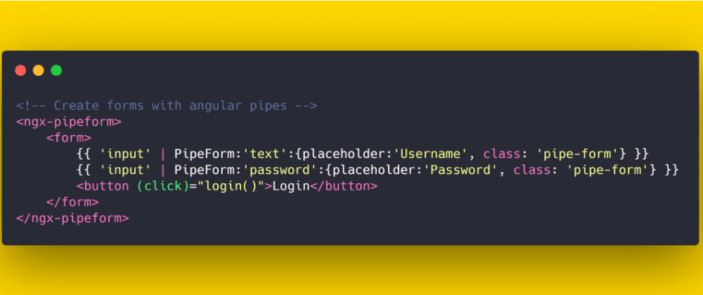 Cover image for Thoughts On Creating Forms using Angular Pipes