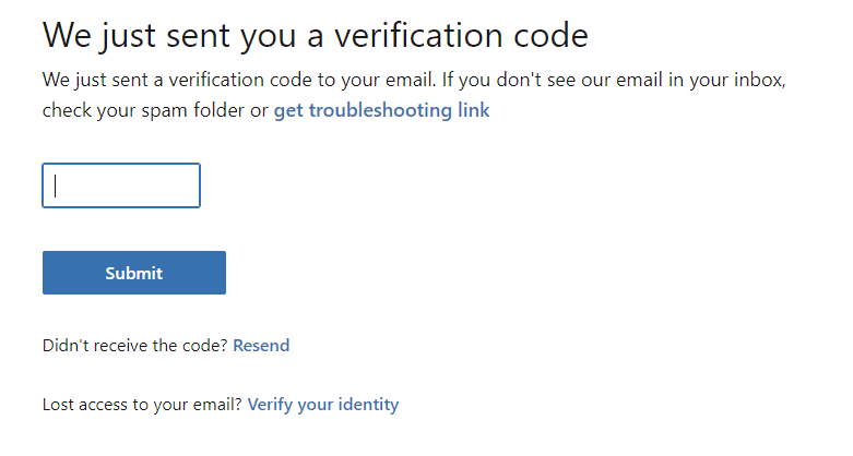 specified email address