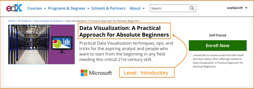 Free Data Visualization Course