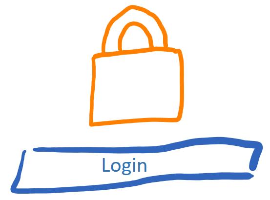 Scribbled login form