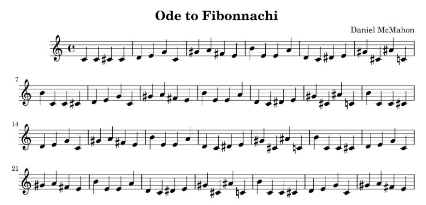 Ode to Fibonacci