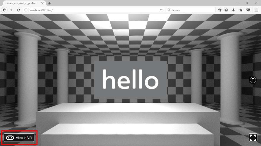 Hello World VR button
