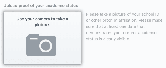verify your current student status