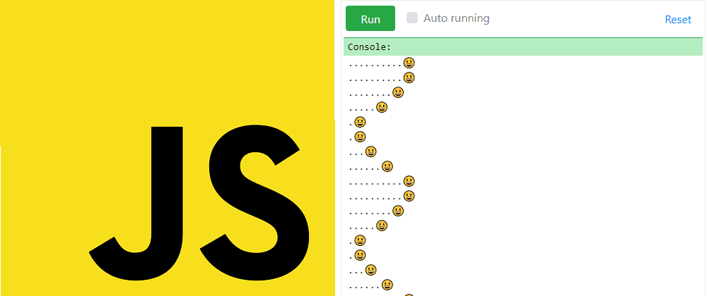 Cover image for JavaScript and animated sinus in console 🙂💻