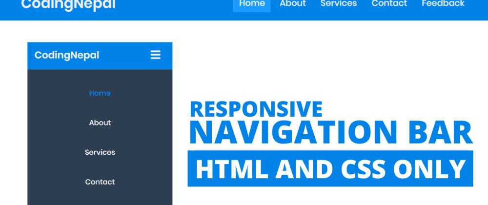 Cover image for Responsive Navbar in HTML CSS