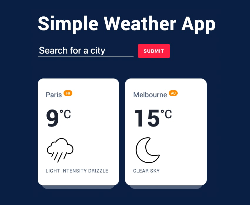 JavaScript Weather Project Image
