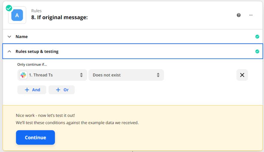 if original message