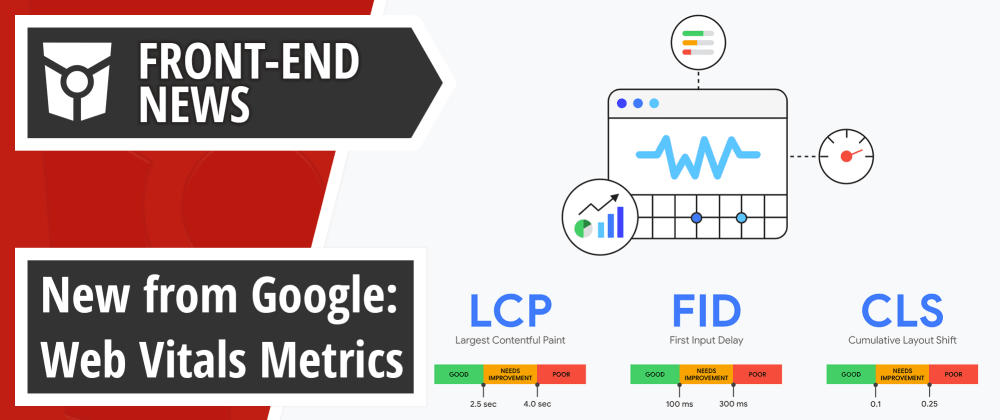Cover image for Web Vitals metrics from Google, Firefox 76 update, GitHub Satellite 2020 announcements | Front End News