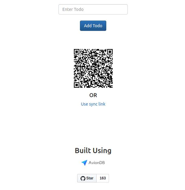 Replicating AvionDB To-do App