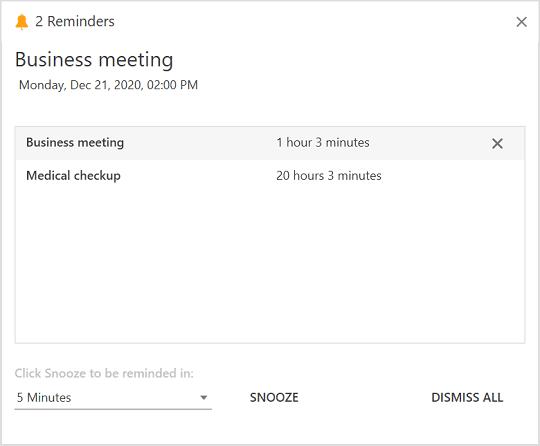 WPF Scheduler Displaying Reminder Notification