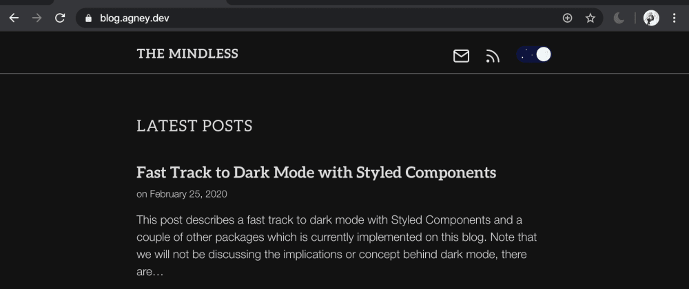 Cover image for Fast Track to Dark Mode with Styled Components and React