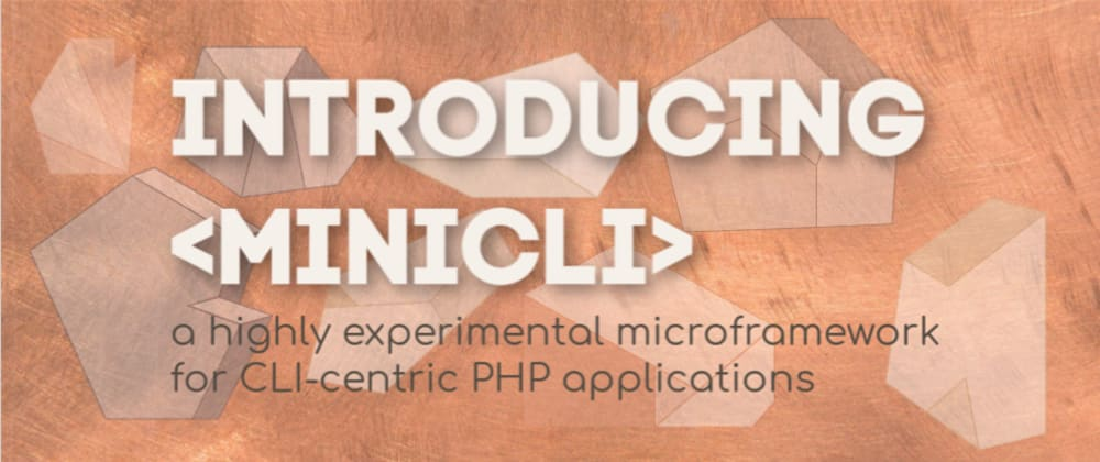 Cover image for Introducing minicli: a microframework for CLI-centric PHP applications