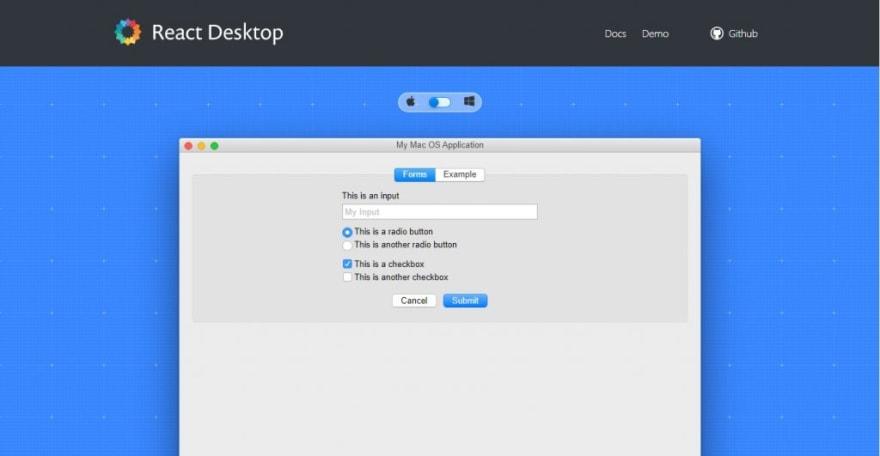 React desktop - React UI Kit with desktop-like design