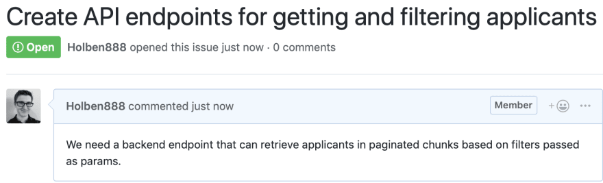 Example of bad GitHub issue